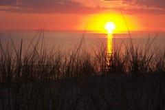 Zonsondergang op het overzees Royalty-vrije Stock Foto's