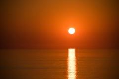 Zonsondergang op het overzees Stock Foto