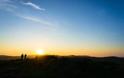 Zonsondergang op het Russische eiland Royalty-vrije Stock Afbeeldingen