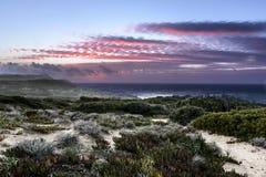 Zonsondergang op het wilde westen royalty-vrije stock foto