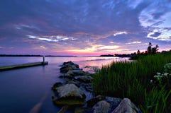 Zonsondergang op Hogere Niagara Royalty-vrije Stock Afbeelding