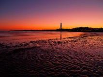 Zonsondergang op Jersey Royalty-vrije Stock Afbeelding