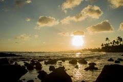 Zonsondergang op Kauai Royalty-vrije Stock Foto's
