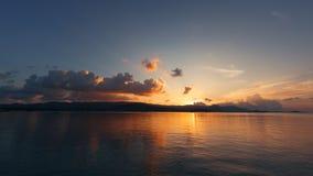 Zonsondergang op koh samui Royalty-vrije Stock Afbeeldingen