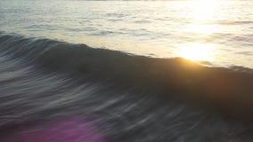 Zonsondergang op Kuta-strand in Bali, Indonesië Stock Foto