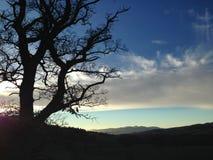Zonsondergang op Loch Royalty-vrije Stock Foto