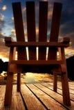 Zonsondergang op meer Royalty-vrije Stock Foto