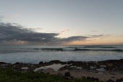 Zonsondergang op Oahu royalty-vrije stock afbeeldingen