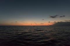 Zonsondergang op Oahu stock afbeelding