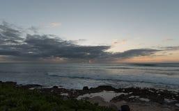 Zonsondergang op Oahu royalty-vrije stock afbeelding