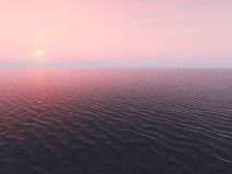 Zonsondergang op oceaan Royalty-vrije Stock Foto