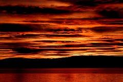 Zonsondergang op Oceaan stock fotografie