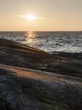 Zonsondergang op Oostzee Stock Afbeeldingen