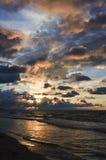 Zonsondergang op overzees Stock Foto