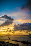 Zonsondergang op overzees Royalty-vrije Stock Foto