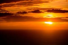 Zonsondergang op Overzees Stock Foto's