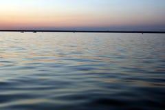 Zonsondergang op overzees 6 Royalty-vrije Stock Afbeelding