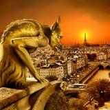 Zonsondergang op Parijs Royalty-vrije Stock Afbeeldingen