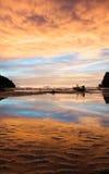Zonsondergang op Phi Ko Phi Royalty-vrije Stock Foto's
