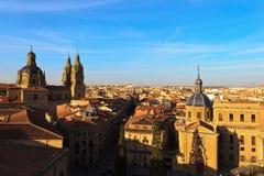 Zonsondergang op Salamanca Stock Afbeeldingen