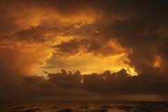 Zonsondergang op Sanibel Royalty-vrije Stock Foto's