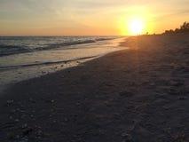 Zonsondergang op Sanibel Royalty-vrije Stock Foto