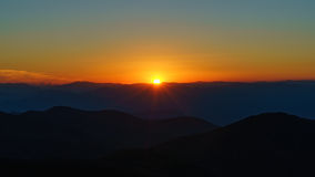 Zonsondergang op Steil Royalty-vrije Stock Foto's