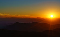 Zonsondergang op Steil Stock Foto
