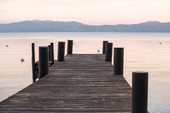 Zonsondergang op Tahoe stock foto's