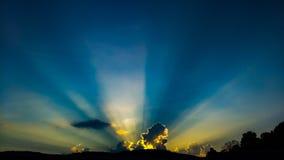 Zonsondergang op 9W stock afbeeldingen