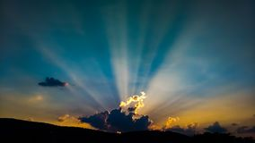 Zonsondergang op 9W stock afbeelding