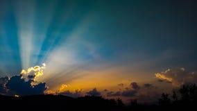 Zonsondergang op 9W stock foto's