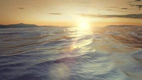 Zonsondergang op zee stock footage