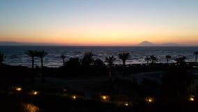 Zonsondergang op zee Stock Afbeelding