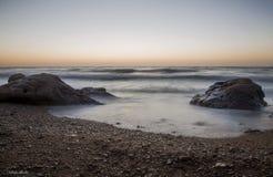 Zonsondergang op zee Royalty-vrije Stock Afbeelding