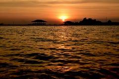 Zonsondergang op zee Royalty-vrije Stock Fotografie