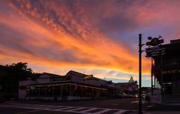 Zonsondergang Oude Stad Mariposa Stock Afbeeldingen