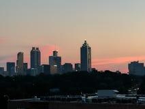 Zonsondergang over Atlanta Royalty-vrije Stock Afbeeldingen
