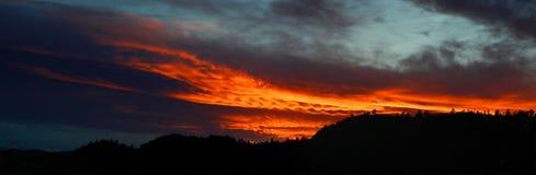 Zonsondergang over Cherokee Park Royalty-vrije Stock Afbeeldingen