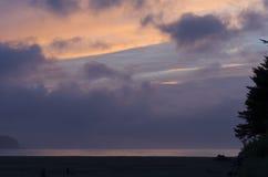 Zonsondergang over Chesterman-Strand Royalty-vrije Stock Afbeeldingen