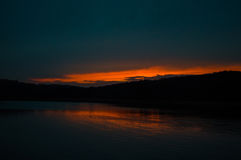 Zonsondergang over Clemson Stock Fotografie