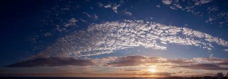 Zonsondergang over de Atlantische Oceaan Stock Afbeelding