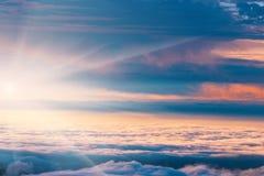 Zonsondergang over de bergen, Madera Stock Foto