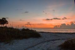 Zonsondergang over de Golf van Mexico royalty-vrije stock afbeeldingen