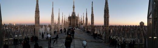 Zonsondergang over de kathedraal Royalty-vrije Stock Afbeeldingen