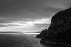 Zonsondergang over de Middellandse Zee stock fotografie