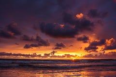Zonsondergang over de Oostzee Stock Fotografie