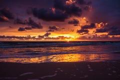 Zonsondergang over de Oostzee Royalty-vrije Stock Foto