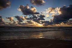 Zonsondergang over de Oostzee Royalty-vrije Stock Afbeelding
