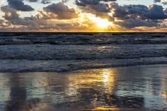 Zonsondergang over de Oostzee Royalty-vrije Stock Fotografie